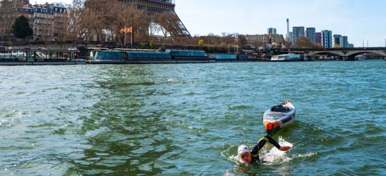La Seine à la nage de Langres à la mer: premier défi réussi, celui de la cagnotte