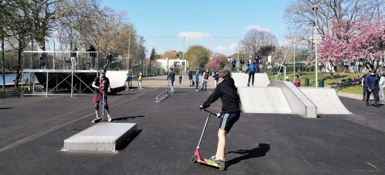 Un skate-park à Nogent-sur-Marne