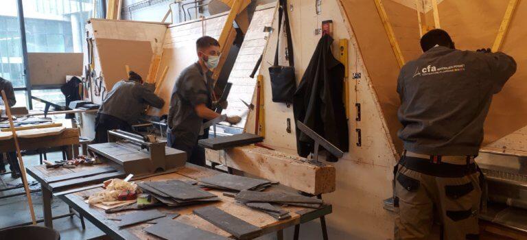 Zinc, ardoise, tuiles, les apprentis couvreurs d'Alfortville au chevet des toitures parisiennes