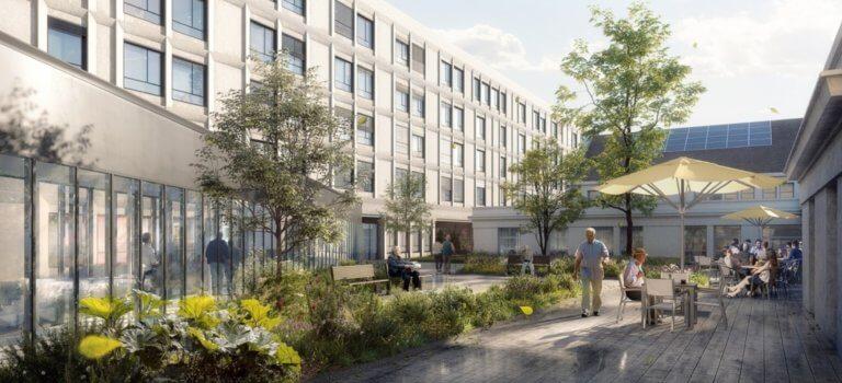 Limeil-Brévannes: un bâtiment pour les soins longue durée à l'hôpital Émile Roux