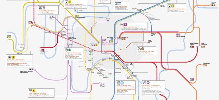 Ile-de-France: le point sur les travaux d'été dans le métro, RER, train et tramway