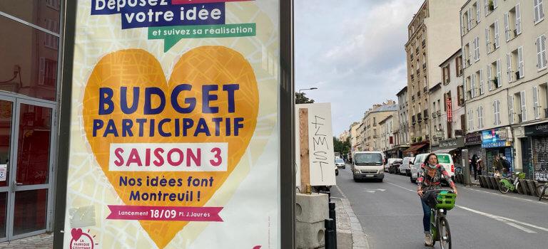 Montreuil lance son 3ème budget participatif