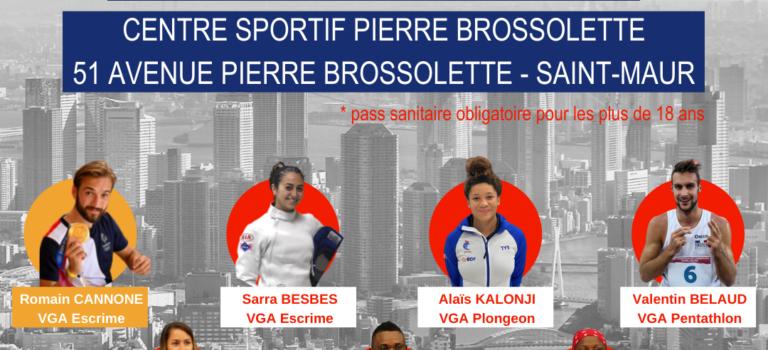 Retour au club du champion olympique Romain Cannone et des 6 athlètes de la VGA à Saint-Maur-des-Fossés