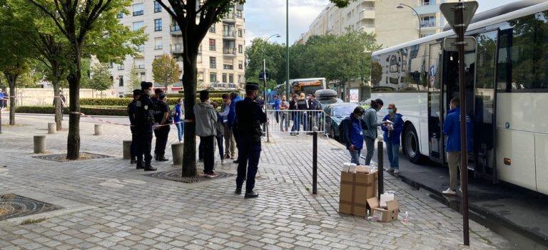 Le camp de migrants devant la préfecture d'Ile-de-France évacué