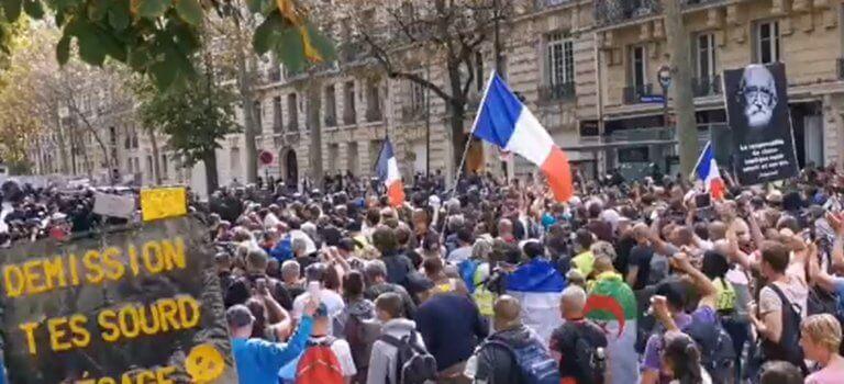 Paris: 9ème samedi de manif contre le passe sanitaire