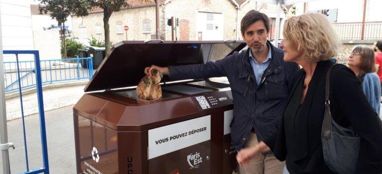 A Charenton-le-Pont: une poubelle connectée pour les biodéchets