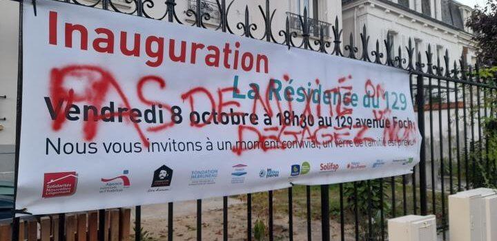 Colère après la dégradation d'une banderole à Fontenay-sous-Bois